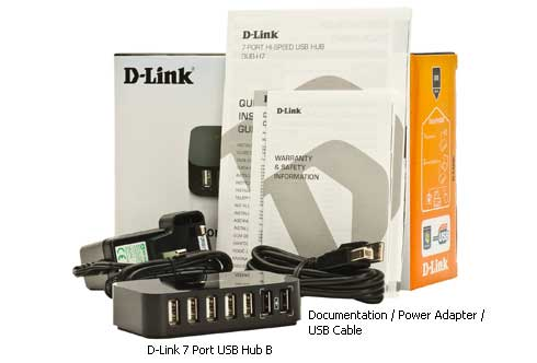 Hub 7 ports D-Link