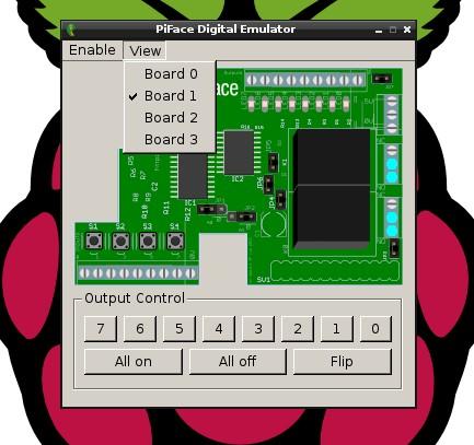 Copie d'écran piface emulator