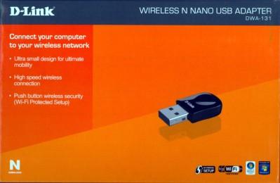 Boîte de la clé Wifi Dlink DWA-131