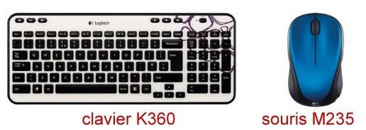 clavier K360 et souris M235 Logitech