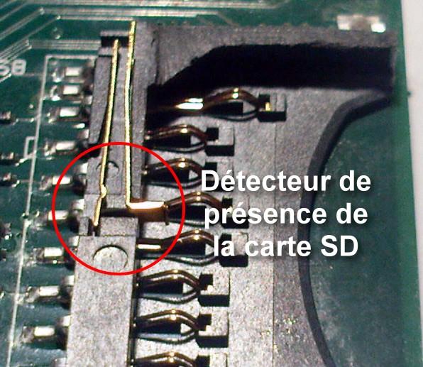Détecteur de présence de carte SD du Raspberry Pi