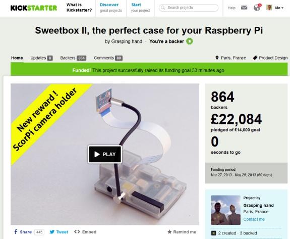 Le projet KickStarter : Sweetbox II
