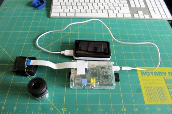 L'ensemble Caméra + Raspberry Pi avant montage sur le télescope Celestron.