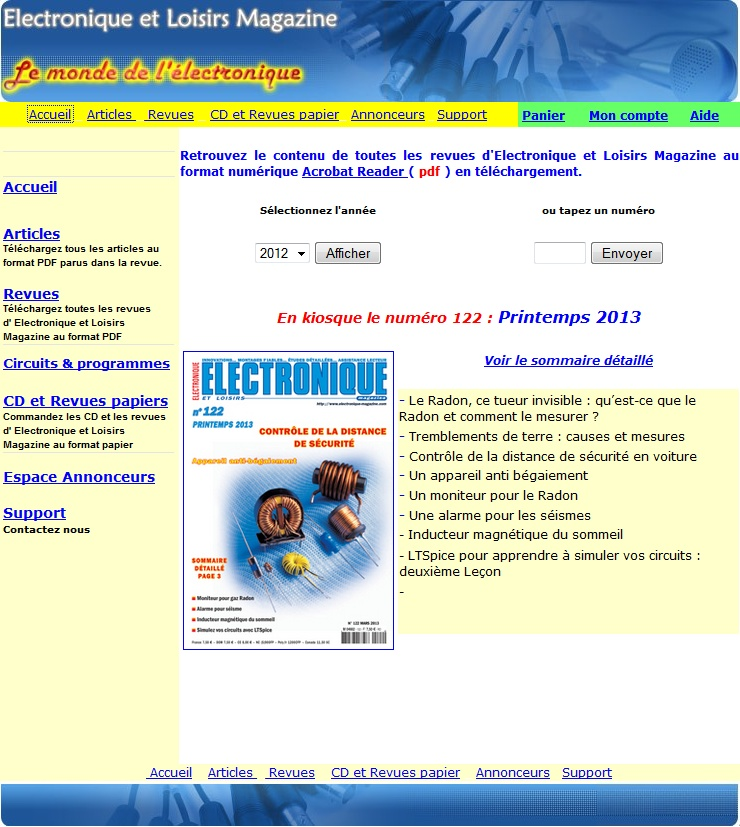 Site web de la revue Electronique Magazine