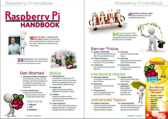 Sommaire de Linux Magazine N° 14 : Raspberry Pi Handbook