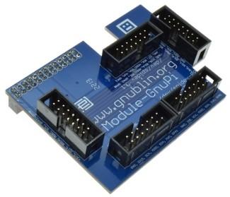 Adaptateur gnublin - Raspberry Pi : carte avec connecteurs soudés