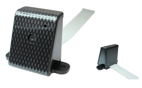 Boitier de caméra finition carbone