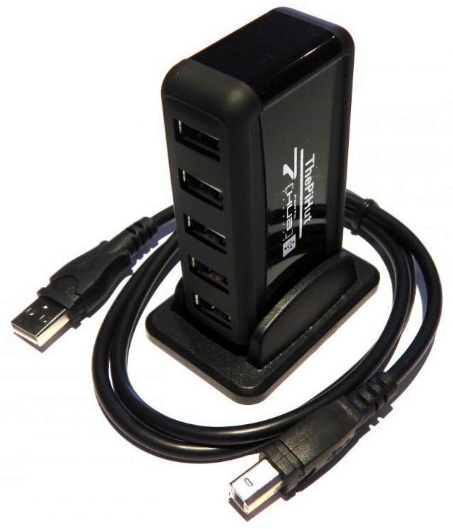 PiHut Hub 7 ports USB pour le Raspberry Pi