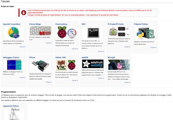 WIKI MCHOBBY : Page d'accueil du Raspberry Pi - Les tutoriels