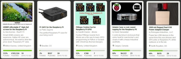 5 Projets KickStarter pour le Raspberry Pi