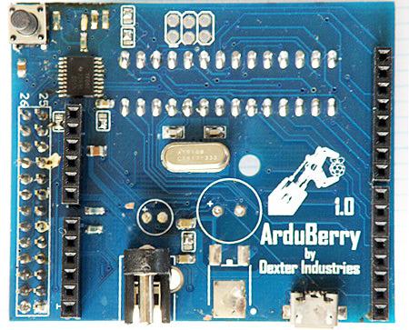 La carte Arduberry vue de dessus