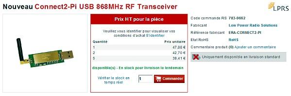 Site web RS - Module Connect2-Pi 868 MHz