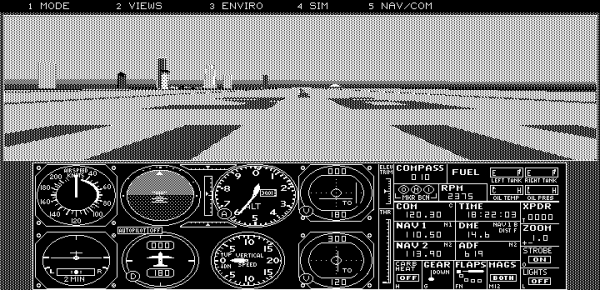 8086tiny - Flight Simulator 4