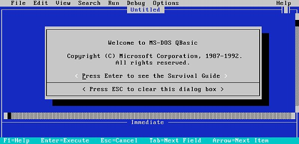 8086tiny - Qbasic sous MS-DOS