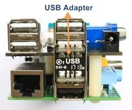 Montage carte d'extension X100 - Etape 4 - Mettre en place l'adaptateur USB