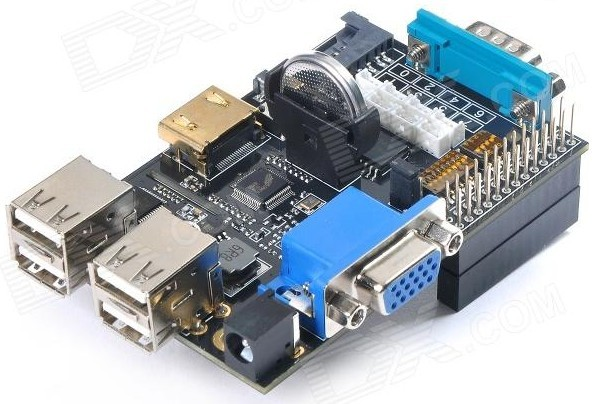 Carte d'extension X100 Suptronics - La carte montée sur un Raspberry Pi