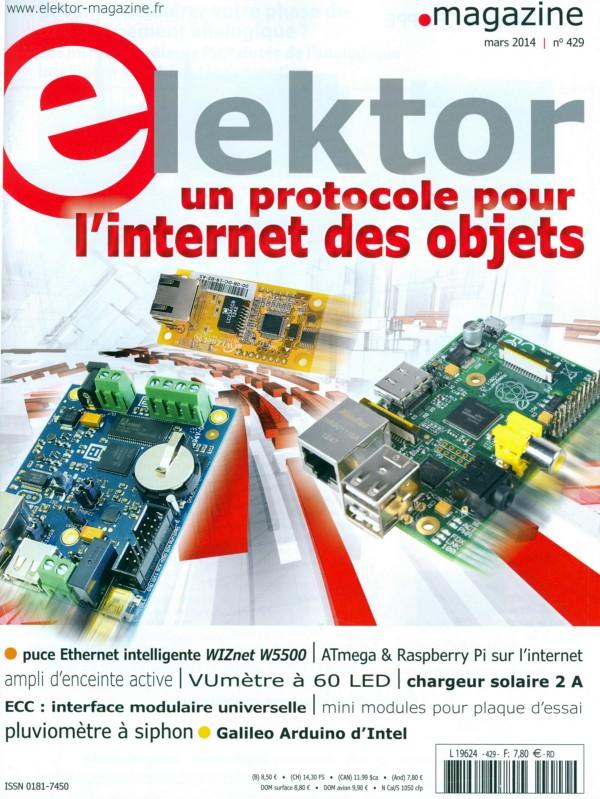 Elektor N°429 mars 2014 - Couverture