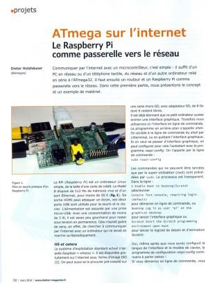 Elektor N°429 mars 2014 - Le Raspberry Pi comme passerelle vers le réseau