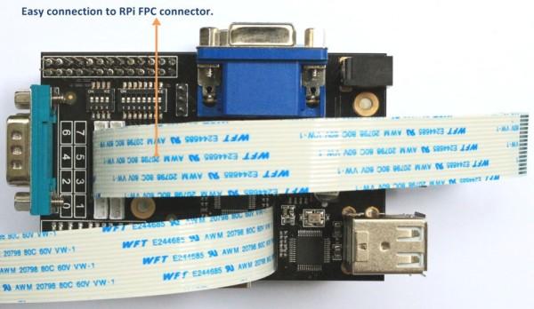 Carte d'extension X100 - Suptronics - Des fentes permettent le passage des câbles plats