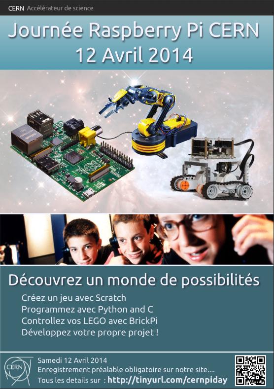Poster de la journée Raspberry Pi au CERN