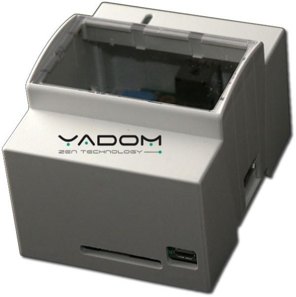 Boîtier DIN Yadom pour le Raspberry Pi - Version avec fenêtre transparente