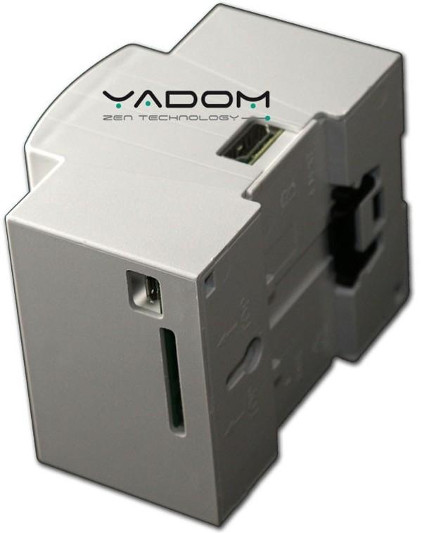 Boîtier DIN Yadom pour le Raspberry Pi - Vue arrière