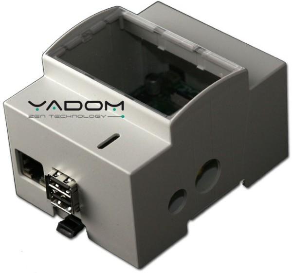 Boîtier DIN Yadom pour le Raspberry Pi - Vue latérale