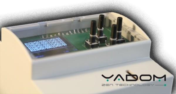 Boîtier DIN Yadom avec afficheur OLED et clavier