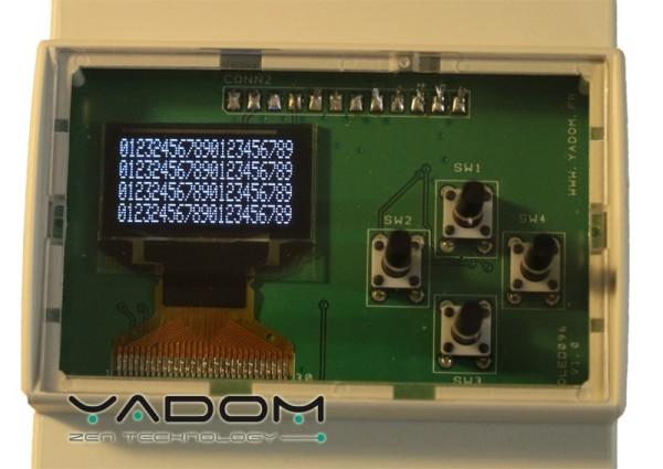 Boîtier DIN Yadom avec afficheur OLED et clavier - Afficheur et clavier