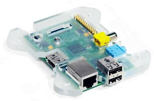 Fixation du Raspberry Pi sur la plaque acrylique