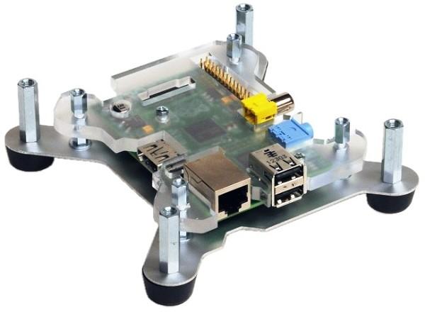 Fixation de la plaque support du Raspberry Pi sur la base de PiCano