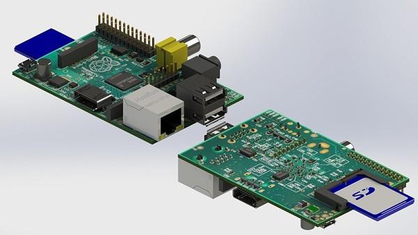 Raspberry Pi - Modèle 3D Recto/verso avec carte SD