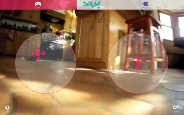L'interface Web TiddlyBot pour la télécommande du robot