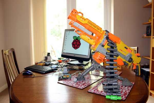 Commande d'une arme-jouet NERF