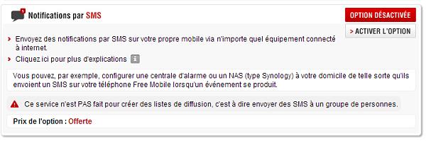notification par sms