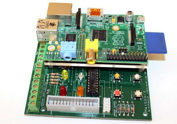 MatBoard - Le Raspberry Pi est fixé sur la carte