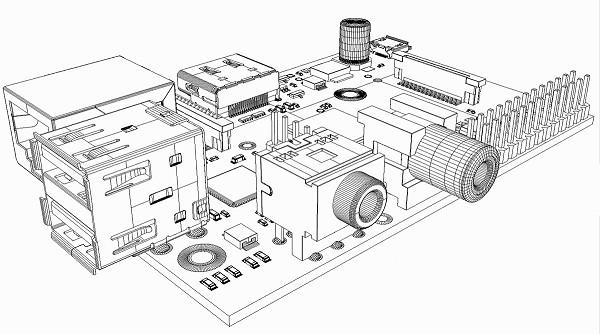 Si, si, je vous assure c'est un modèle 3D du Raspberry Pi...