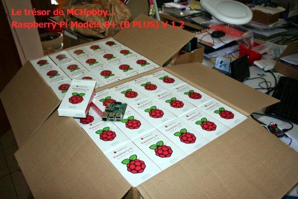 A votre avis combien de Raspberry Pi Model B+ dans ces cartons qui viennent d'arriver chez McHobby ?