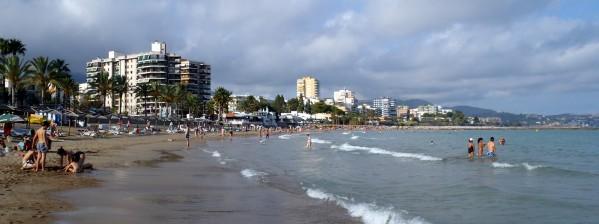 La plage de Benicassim - Espagne 2014