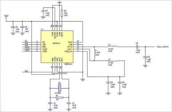 NRF24L01-circuits