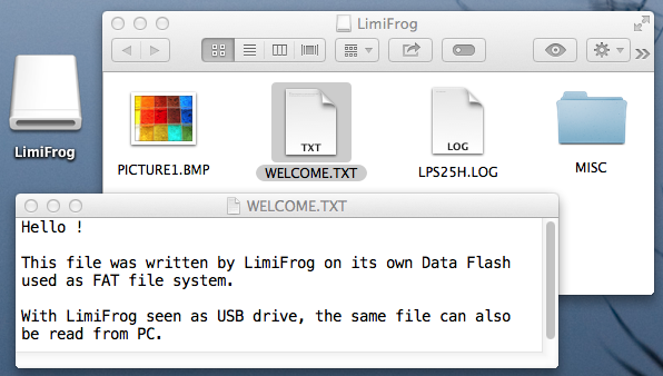LimiFrog as USB drive on Desktop - 603x338
