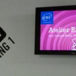 Dans le Hub Creatic, la salle est indiquée par un écran couleur framboise :)