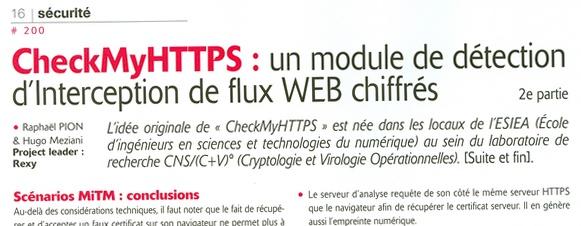 CheckMyHTTPS un plugin pour détecter si les flux web chiffrés sont interceptés