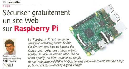 Sécuriser son site web sur Raspberry Pi avec Let's Encrypt