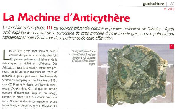 Un calculateur analogique qui date de l'antiquité : la machine d'Anticythère