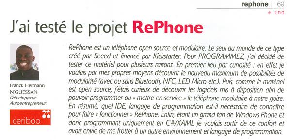 Le projet RePhone : Test