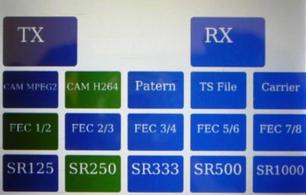 Interface graphique rpidatvgui développée par Evariste F5OEO