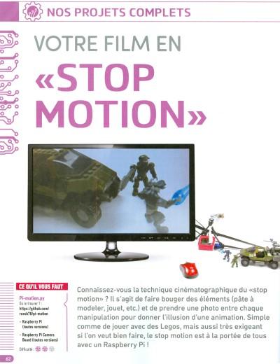 5bb591e11805 Le Raspberry Pi rend la technique de stop-motion très abordable. Déplacez  vos objets ou vos personnages, le Raspberry Pi se charge de prendre les  images et ...