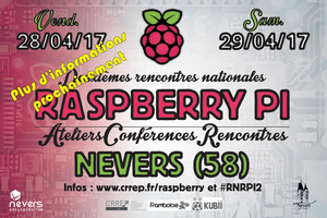 Deuxièmes rencontres nationales Raspberry Pi - Nevers 2017