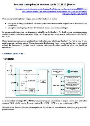 Linux Raspberry Pi script shell mesure de température 1-wire DS18B20